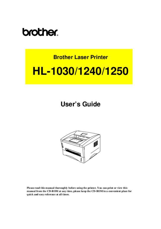 Service Manual - Brother HL-1240 - Printer