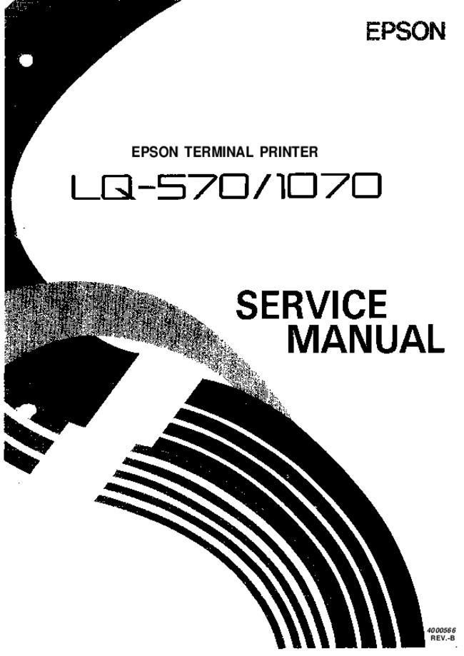 Service Manual - Epson LQ-570 - Printer