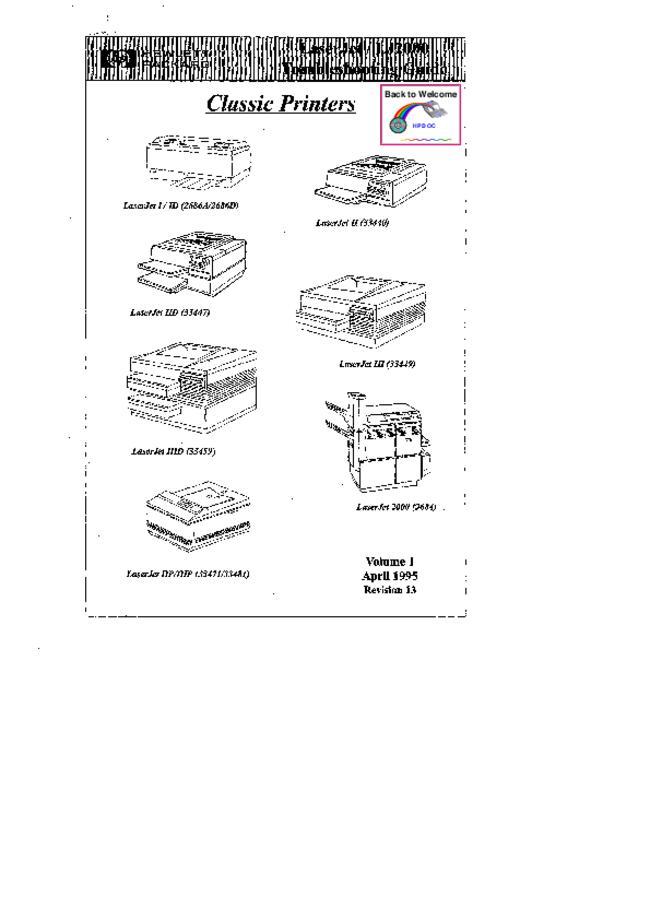 Service Manual - Hewlett Packard LaserJet ID - Printer