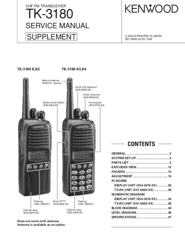service manual - kenwood tk-3180 k2