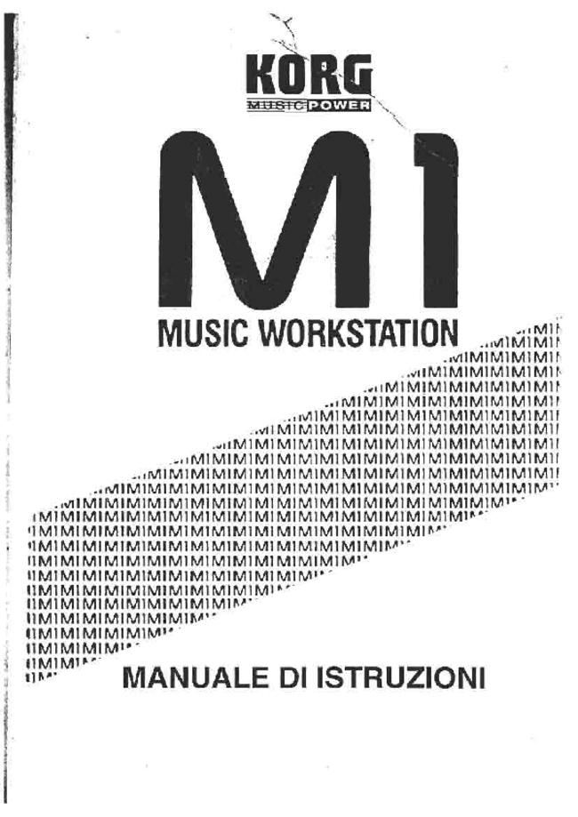 User Manual - Korg M1 - Music Workstation