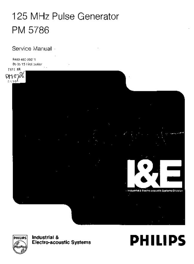 Service Manual - Philips PM 5786 - Generator
