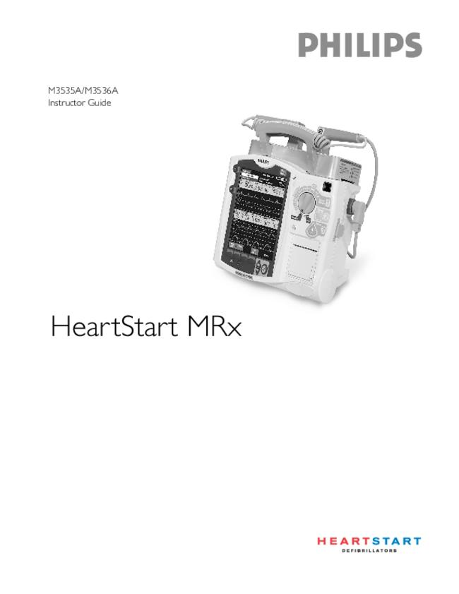 User Manual - Philips Medical Systems HeartStart MRx M3536A