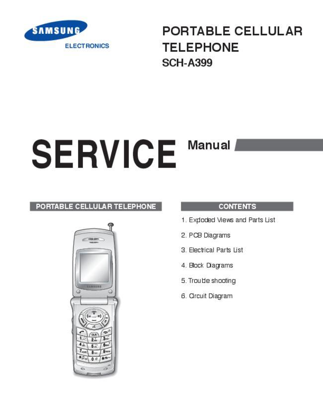 Service Manual - Samsung SCH-A399 - Mobile phone