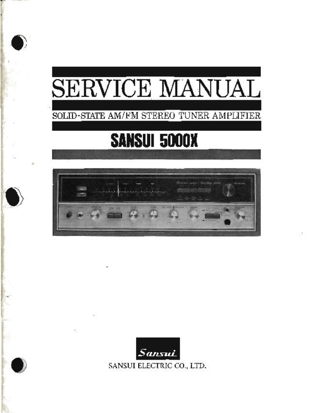 Service Manual - Sansui 5000x