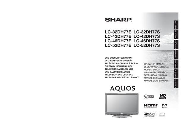 User Manual - Sharp LC-32DH77E - TV