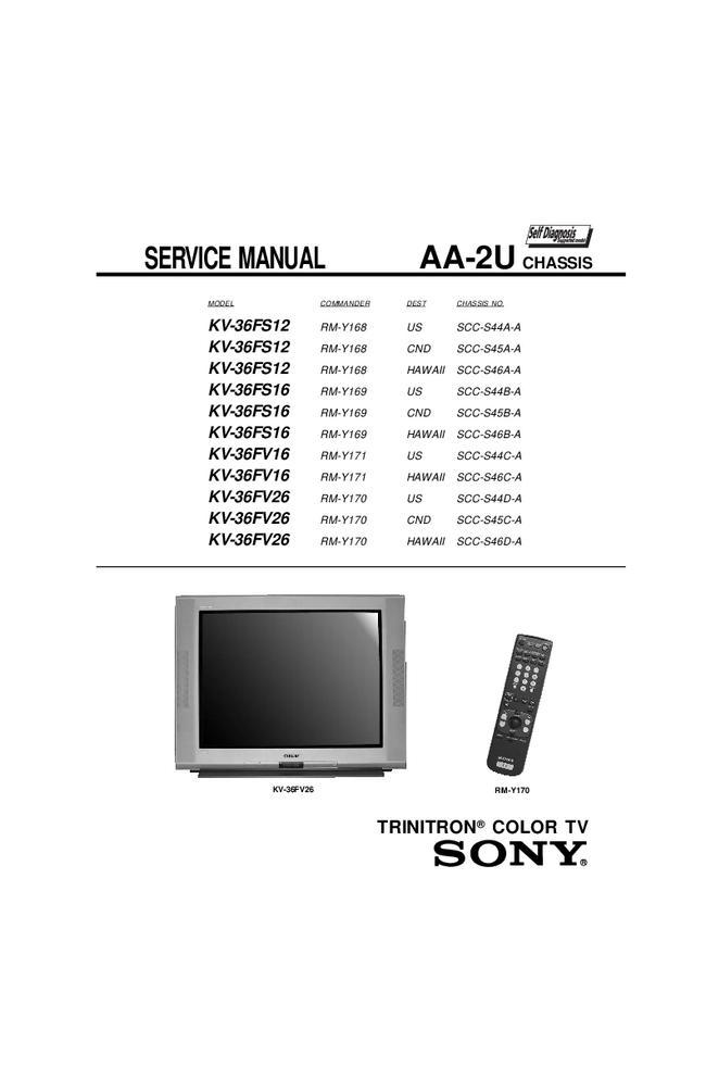 Service Manual Sony Kv 36fv26 Tv