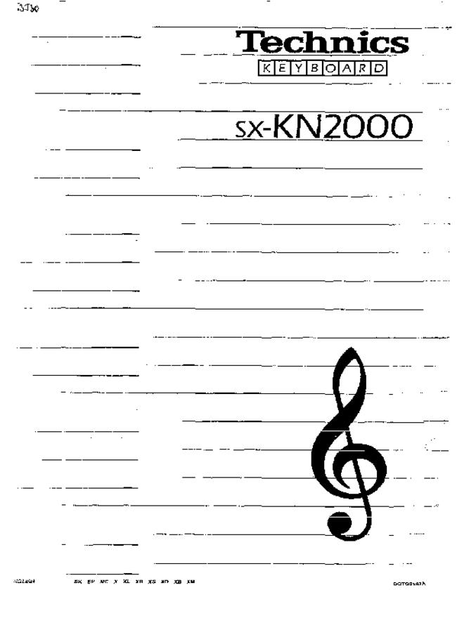 User Manual - Technics SX-KN2000 - Keyboard