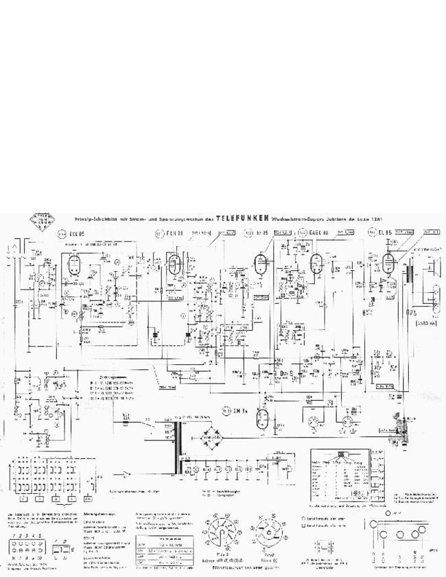 Service Manual, cirquit diagram only - Telefunken Jubilate