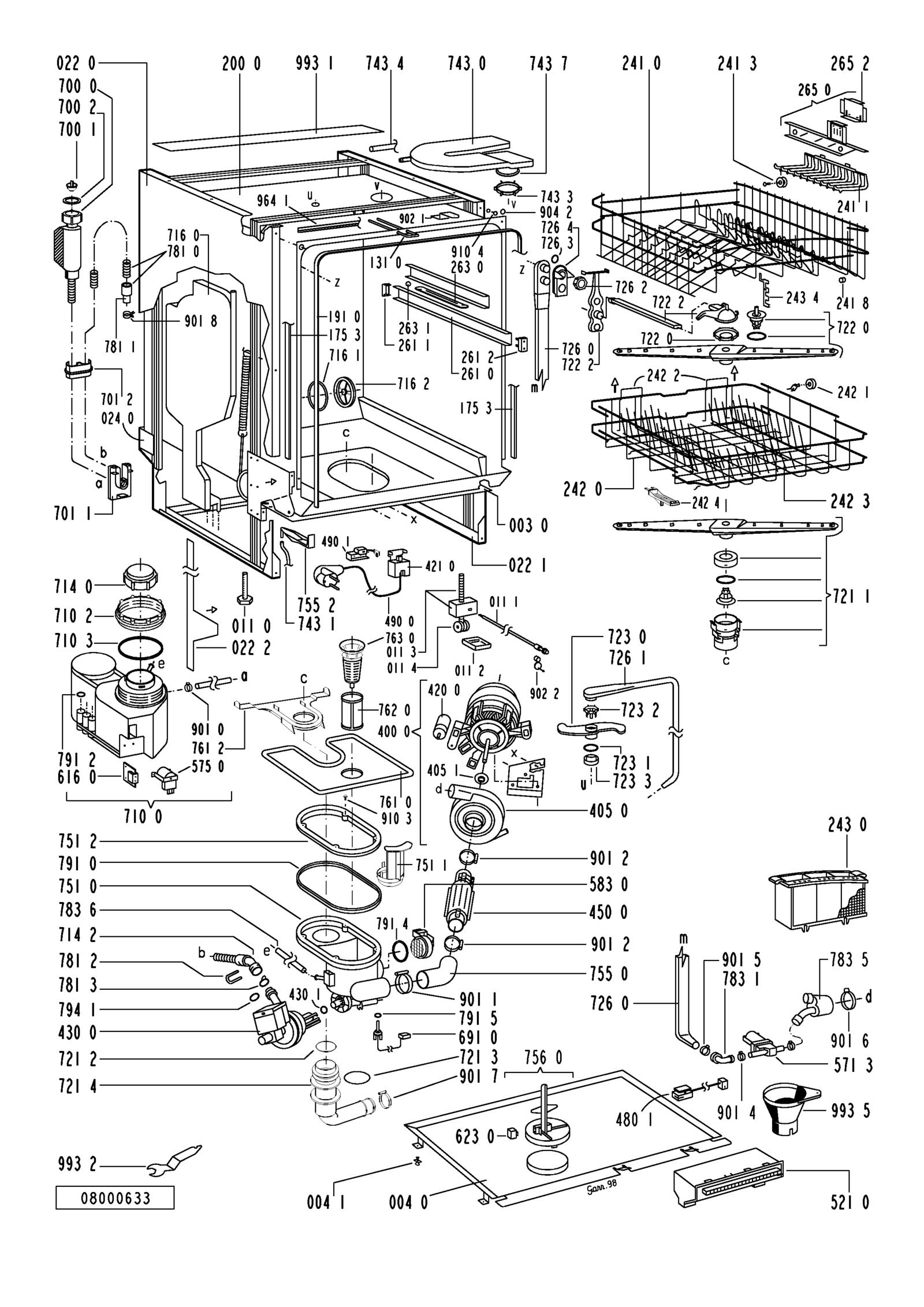 Service Manual - Whirlpool ADG 957/1 M - Dish washerOpweb.de